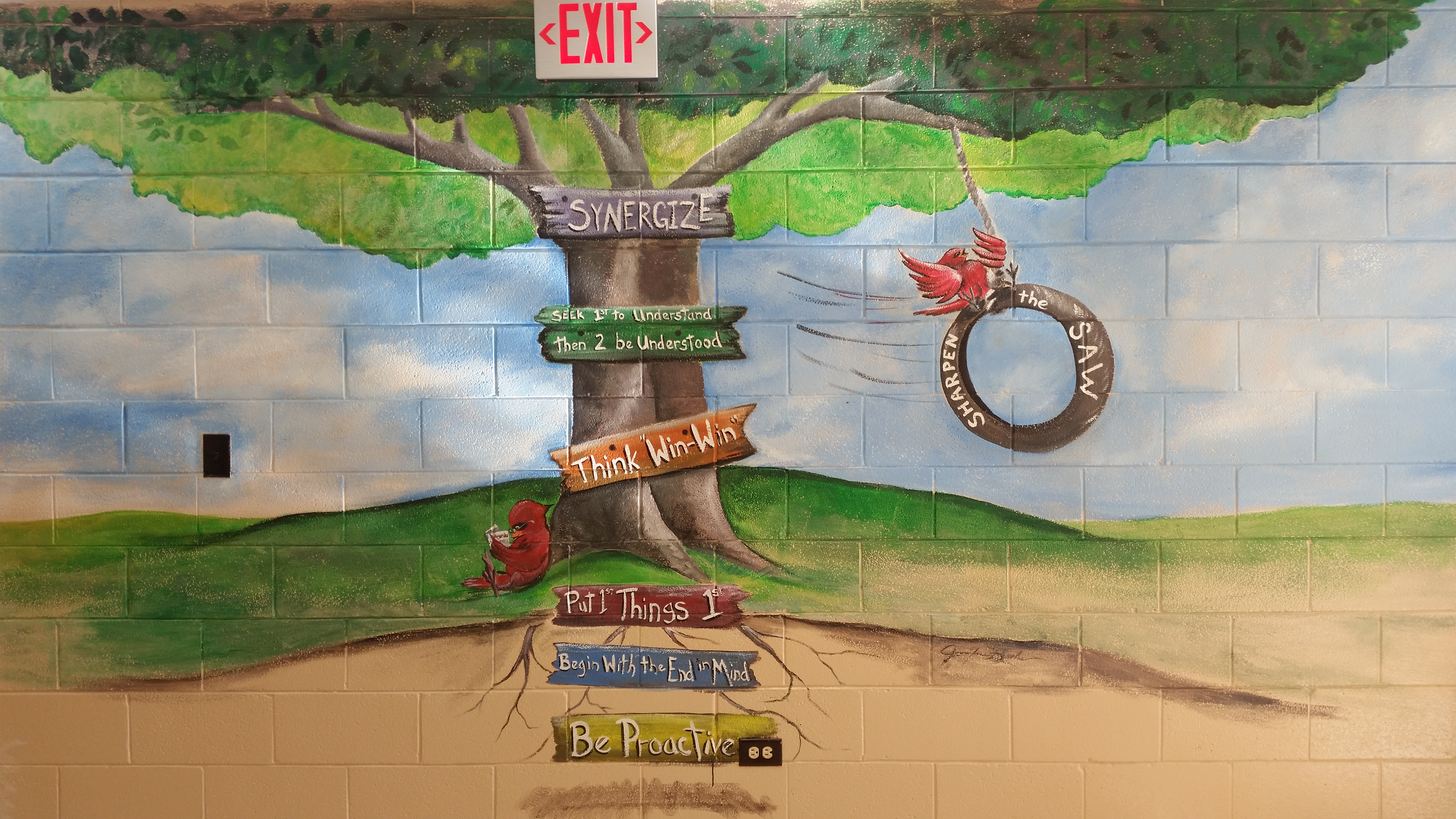 Home livingston county middle school for 7 habits tree mural