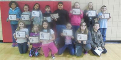 NLES 4th grade A-B Honor Roll 3rd nine weeks