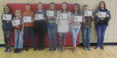 NLES 5th grade A-B Honor Roll 3rd nine weeks