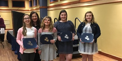 Young Leader's in Action Competition-Exceptional Rating-Olivia Ramage, Raegan Wooten, Madalyn Walker, Kalyn Smith, & sponsor Michele Powell