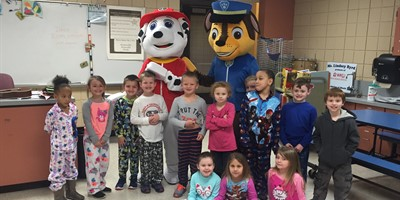 NLES Paw Patrol Visit on PJ Day!
