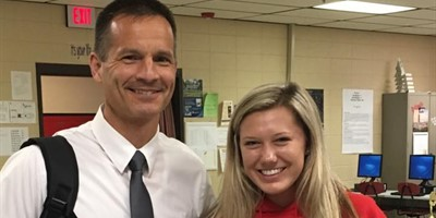 Mr Zimmerman recognized Paige Dudley for Living Red today!