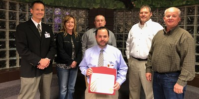 The Livingston County Board of Education honored Mr. Bobby Love for being the staff Live RED recipient for the Month of November.