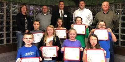 The Livingston County Board of Education recognized North Livingston Elementary students for scoring a distinguished on the 2016-2017 KPREP state test.
