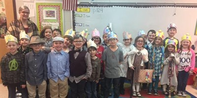 SLES Mrs. Wallace's class100th Day of School