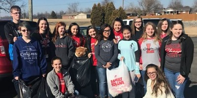 LCMS Student Lighthouse Team Teddy Bear Project for the Salem Springlake Health & Rehab Center.